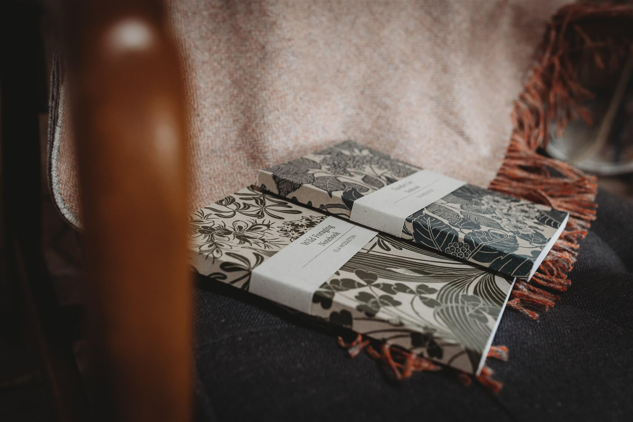 isla middleton linocut notebooks side on