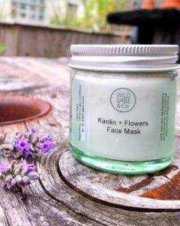 kaolin & flowers face mask