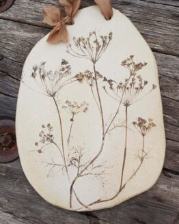 large cow parsley print hanging serving platter