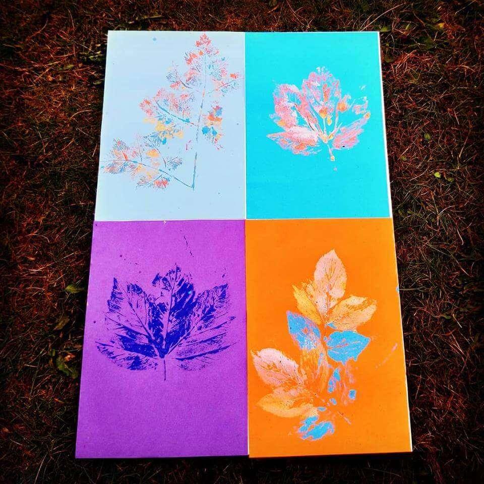 leaf print workshop photo