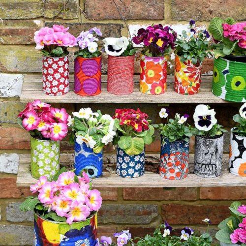 marimekko plant pot crafts