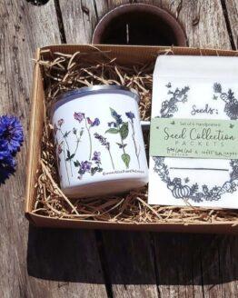 mug and seed collection pack gift set