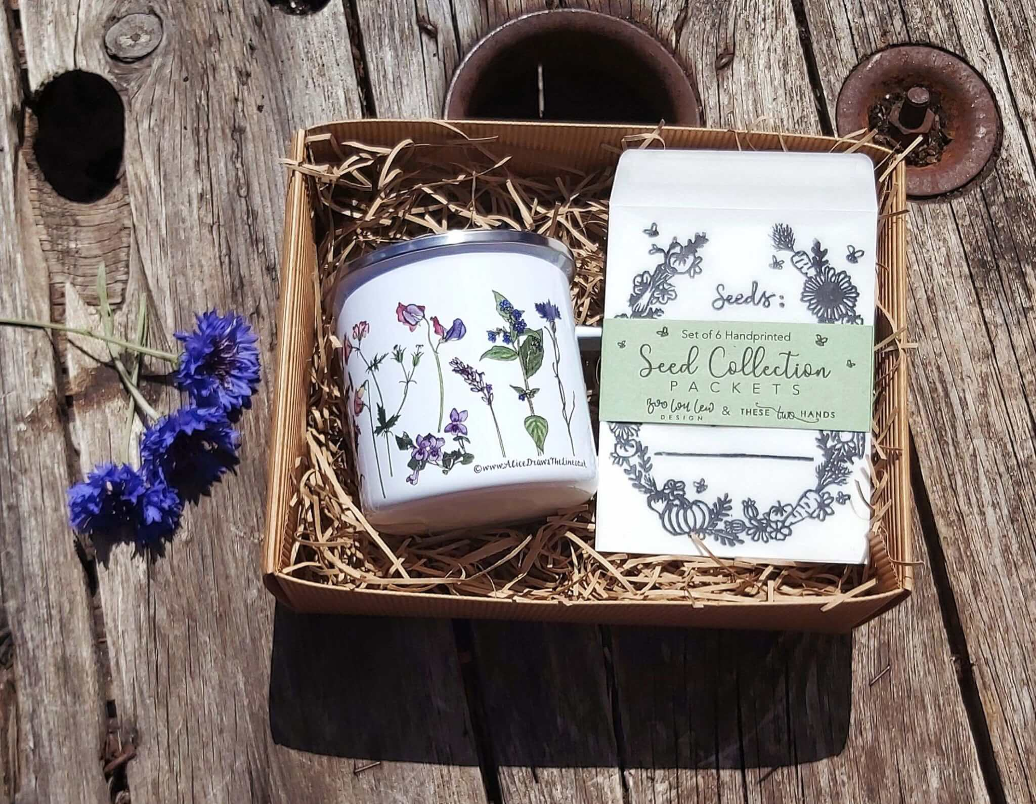 mug and seed collection pack gift set