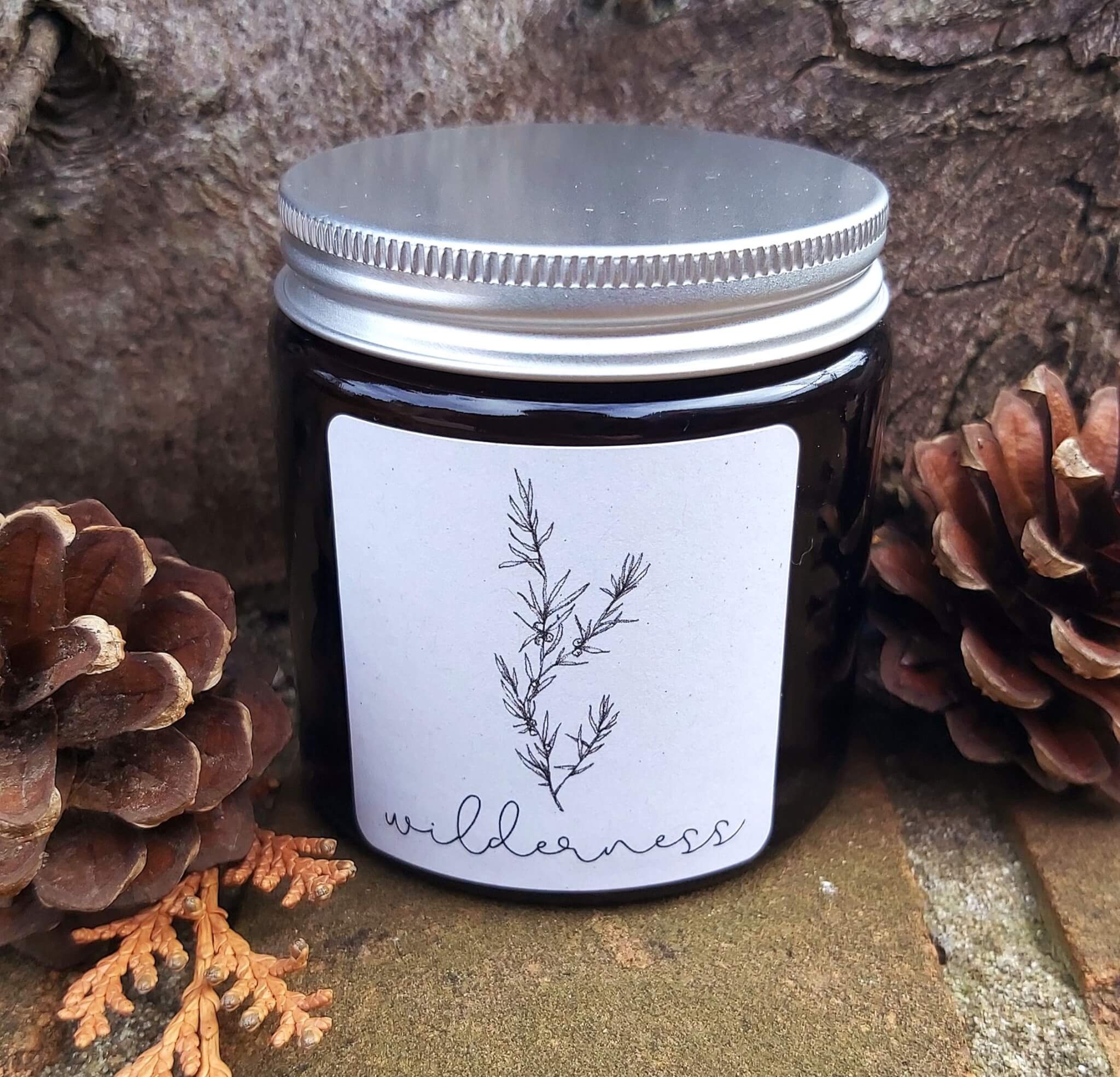new wilderness candle label
