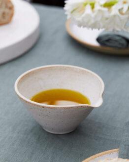 olive oil pourer close up