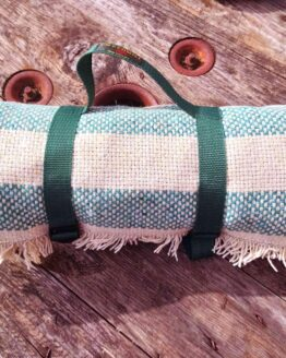 recycled picnic rug roll