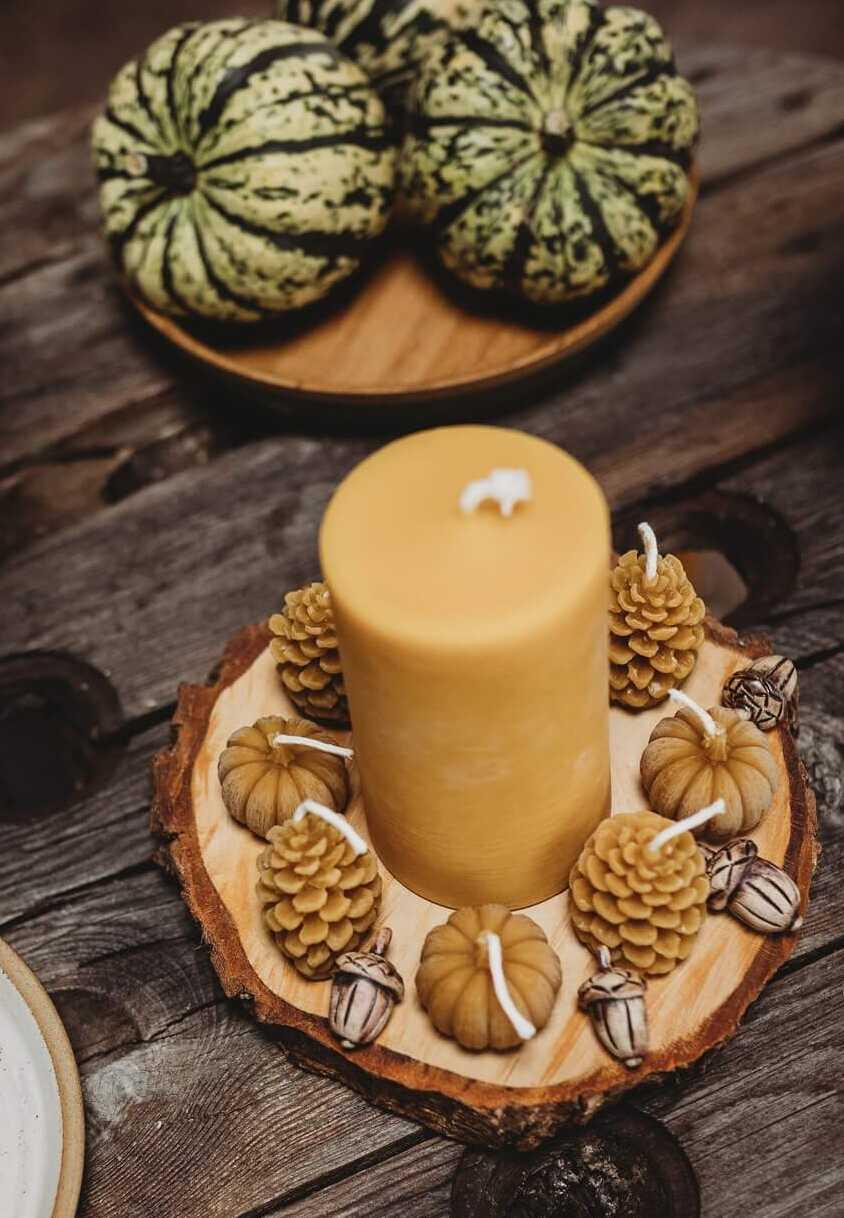 pumpkin beeswax candles main shot