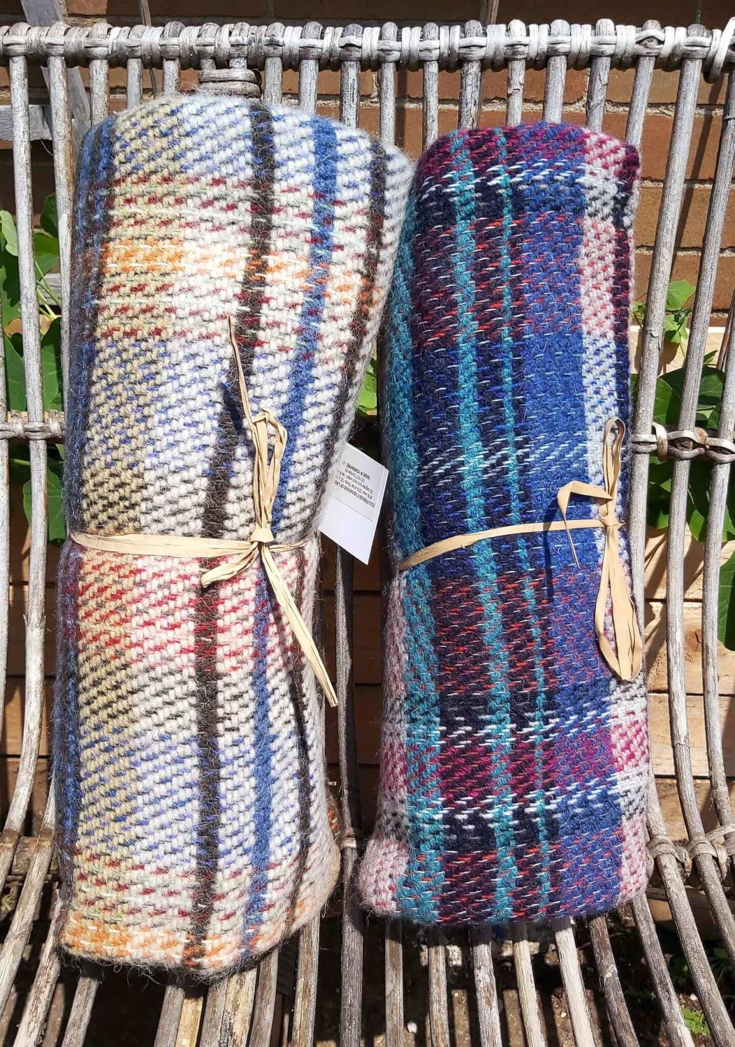 recycled picnic rugs