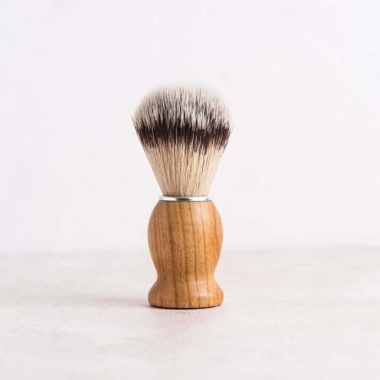 shaving brush close up