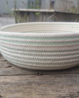 rope table bowl moss and mint
