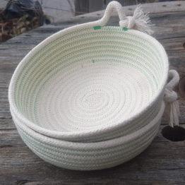 rope tassel dish mint