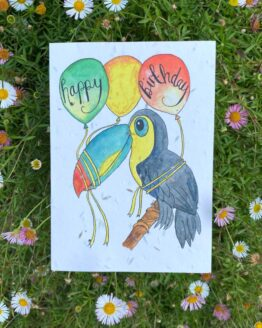 toucan birthday seed card
