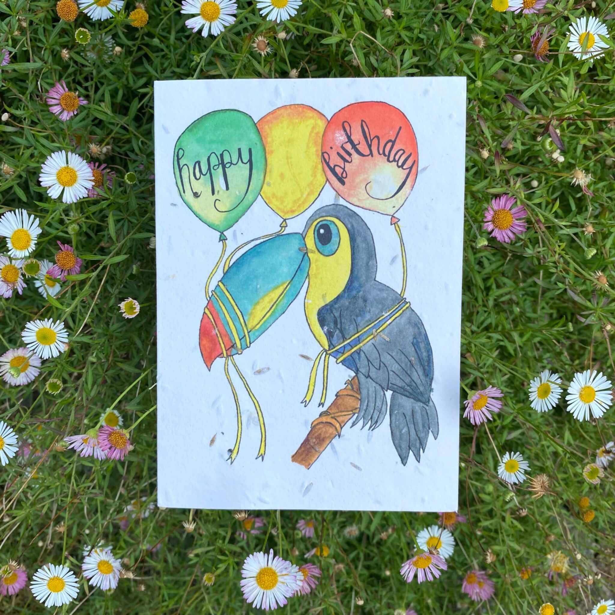 toucan birthday seed card