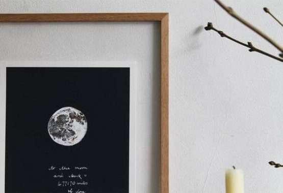 wearestardust copper moon print
