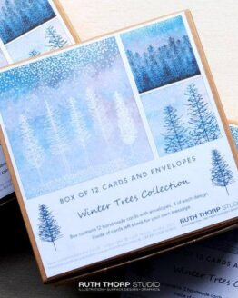 winter trees cards by ruth thorp