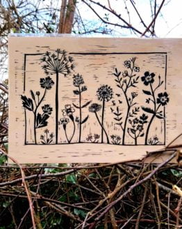 Beth Wild Wooden Wildflower Print