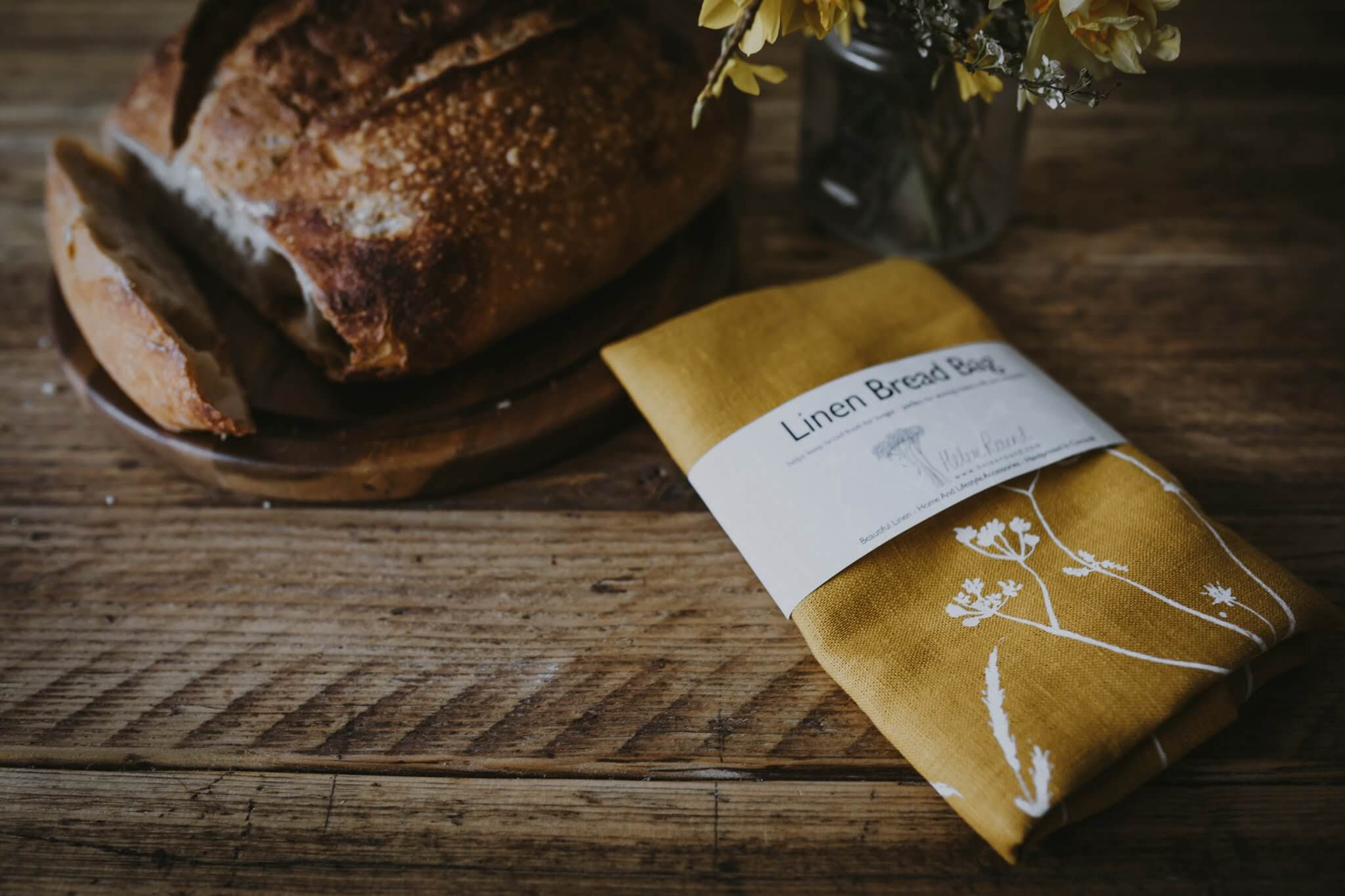 yellow hedgerow bread bag
