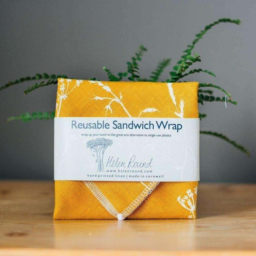 yellow hedgerow sandwich wrap