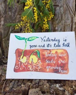 yesterday is gone wildflower seed card